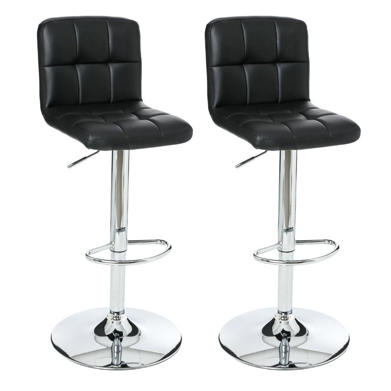 lot de 2 tabourets de bar delek noir. Black Bedroom Furniture Sets. Home Design Ideas