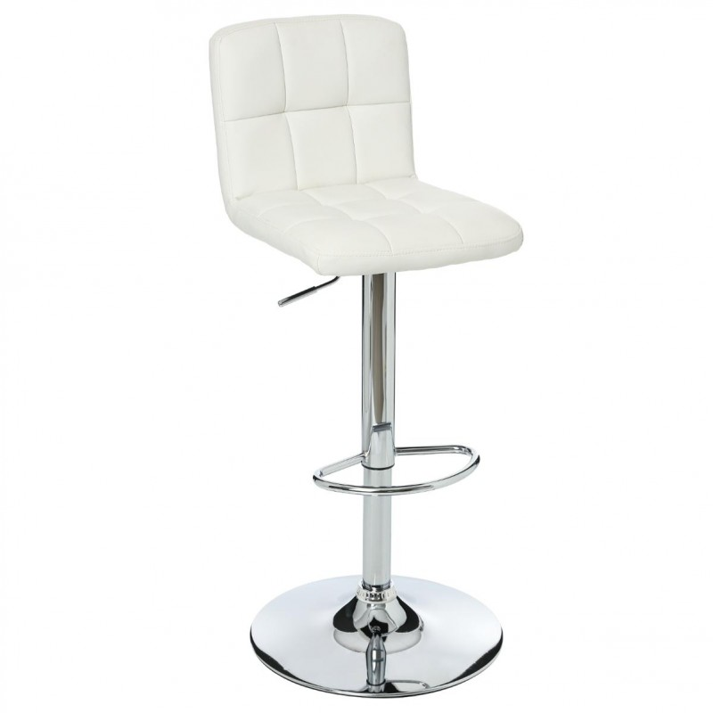 Lot de 2 tabourets de bar delek blanc for Tabouret bar dossier