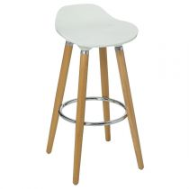 "Tabouret de Bar ""Filel"" 80cm Blanc"