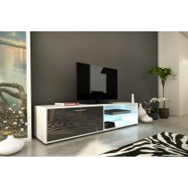 "Meuble TV Design ""Kiara II"" 160cm Gris Brillant"