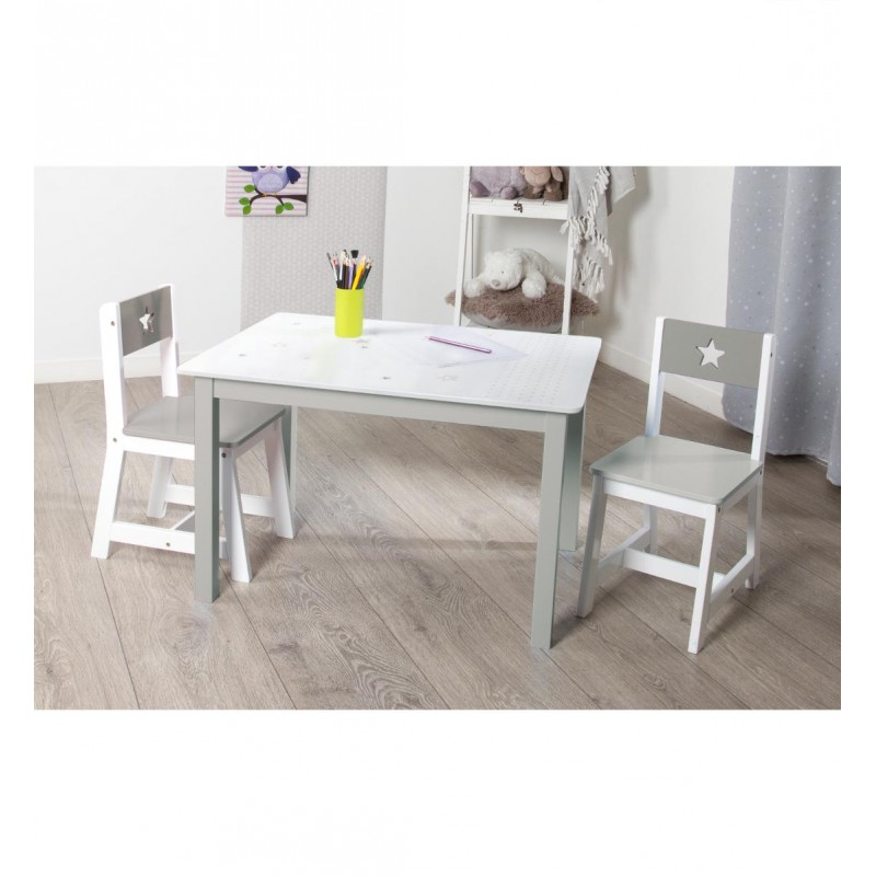 table bureau enfant bois abc taupe. Black Bedroom Furniture Sets. Home Design Ideas