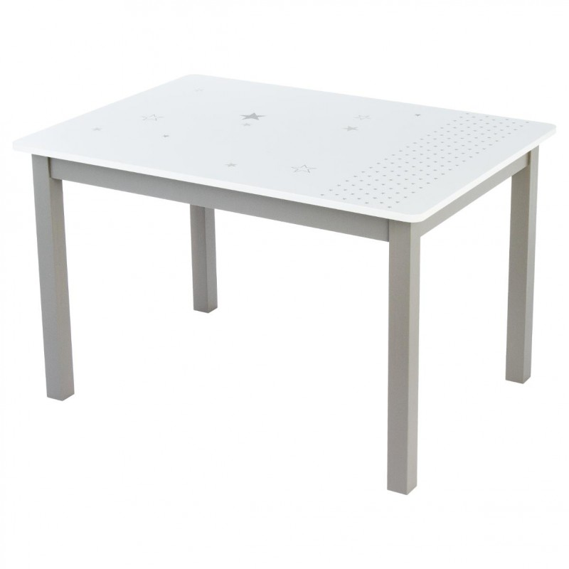 Table bureau enfant bois abc taupe for Table bureau
