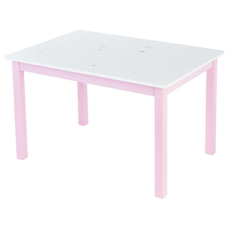 Table bureau enfant bois abc rose for Table bureau bois