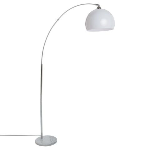 lampadaire m tal design boule 179cm blanc. Black Bedroom Furniture Sets. Home Design Ideas