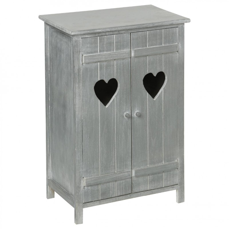 commode 2 portes jynn gris. Black Bedroom Furniture Sets. Home Design Ideas