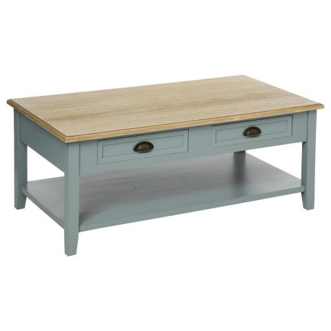 "Table Basse 4 Tiroirs ""Damian"" 110cm Gris"
