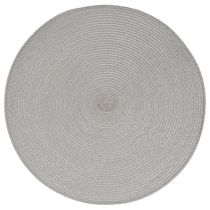 Set de Table Rond 38cm Gris Clair