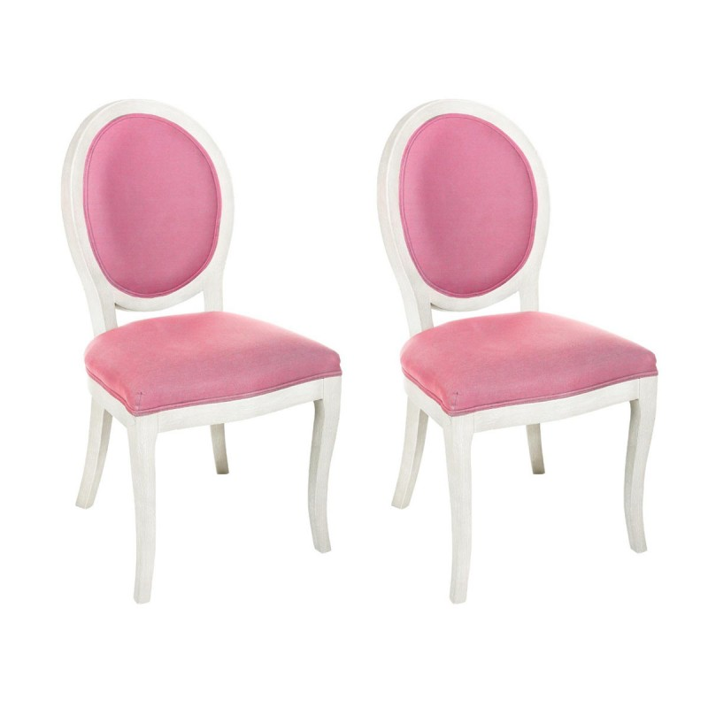 lot de 2 chaises m daillon cl on rose. Black Bedroom Furniture Sets. Home Design Ideas