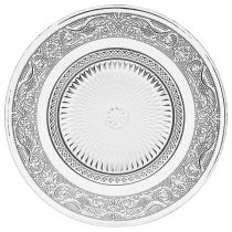 "Lot de 6 Assiettes Plates ""Renaissance"" 20cm Transparent"