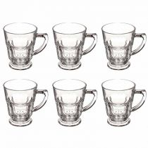 "Lot de 6 Mugs en Verre ""Casablanca"" 27cl Transparent"