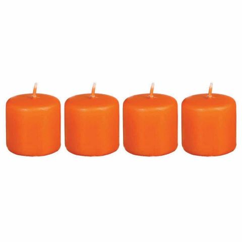 4 Bougies Votives Orange