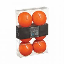 "Lot de 6 Bougies Flottantes ""Basic"" 4,5cm Orange"