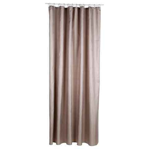 Rideau Douche Polyester 180x200cm Taupe