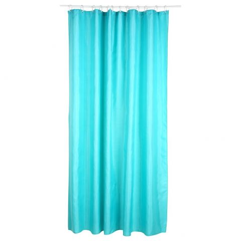 Rideau Douche Polyester 180x200cm Turquoise