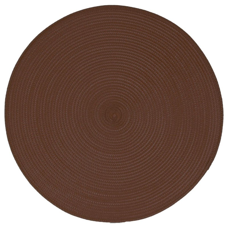 set de table rond 38cm chocolat. Black Bedroom Furniture Sets. Home Design Ideas
