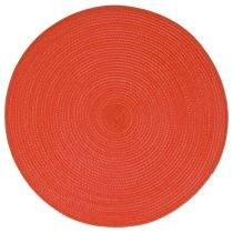 "Set de Table Rond ""Tressé"" 38cm Rouge"