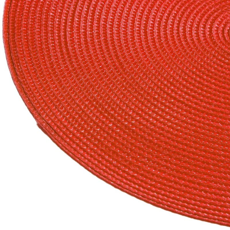 Set de table rond 38cm rouge for Set de table rouge rond