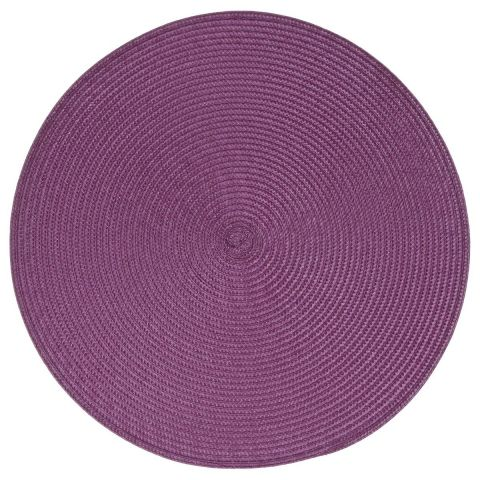 "Set de Table Rond ""Tressé"" 38cm Violet"