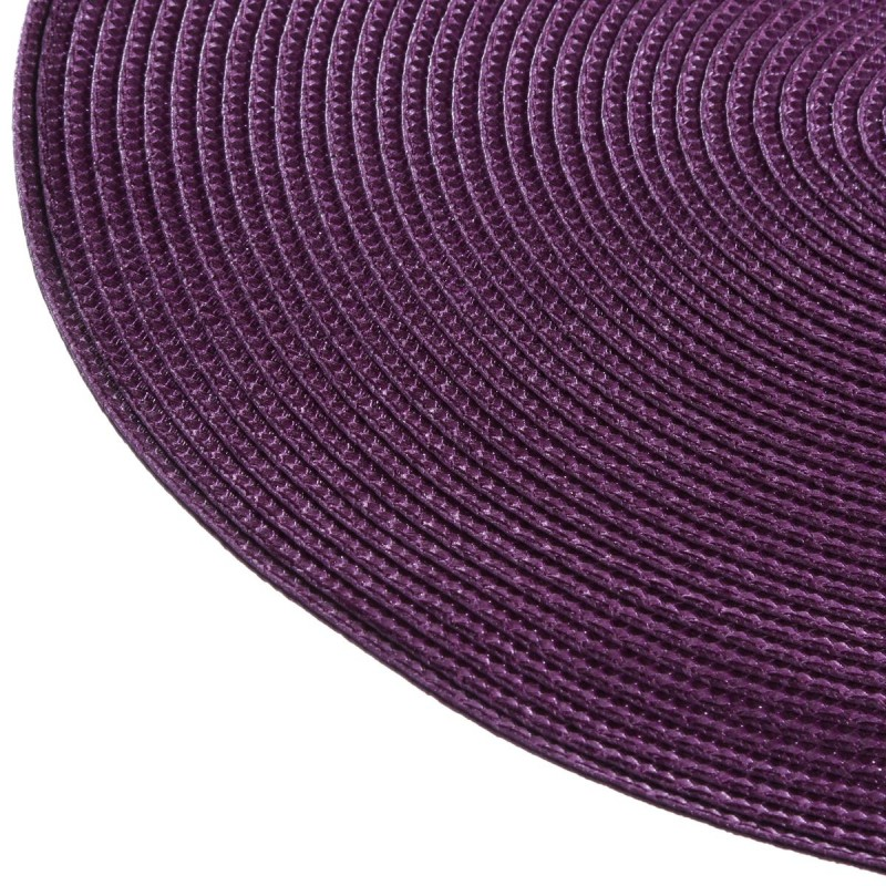 Set de table rond 38cm violet for Set de table violet