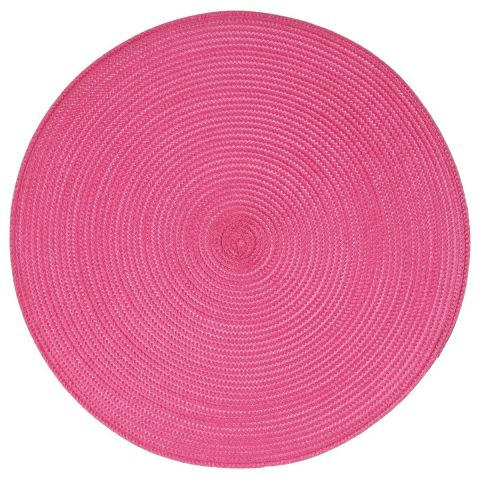 "Set de Table Rond ""Tressé"" 38cm Fuchsia"
