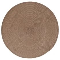 "Set de Table Rond ""Tressé"" 38cm Taupe"