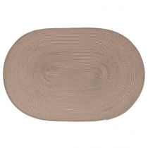 "Set de Table ""Ovale"" 30x45cm Taupe"