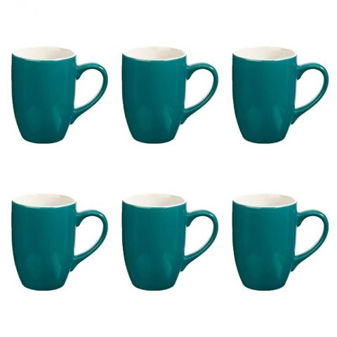 "Lot de 6 Mugs ""Colors"" 31cl Bleu"