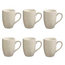 "Lot de 6 Mugs ""Colors"" 31cl Blanc"