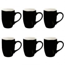 "Lot de 6 Mugs ""Colors"" 31cl Noir"