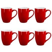"Lot de 6 Mugs ""Colors"" 31cl Rouge"