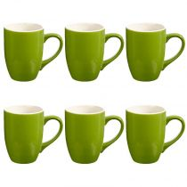 "Lot de 6 Mugs ""Colors"" 31cl Vert"