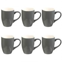 "Lot de 6 Mugs ""Colors"" 31cl Gris"