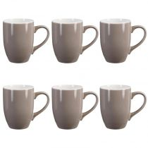 "Lot de 6 Mugs ""Colors"" 31cl Taupe"