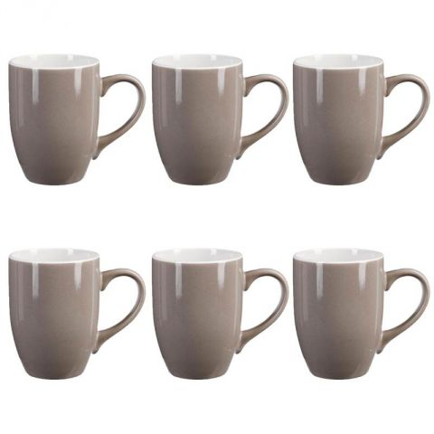 lot de 6 mugs colors 31cl taupe. Black Bedroom Furniture Sets. Home Design Ideas