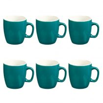 "Lot de 6 Mugs ""Colors"" 18cl Bleu"