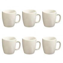 "Lot de 6 Mugs ""Colors"" 18cl Blanc"