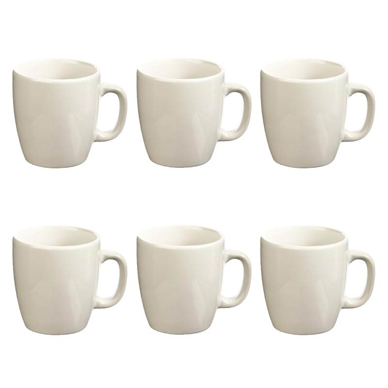 lot de 6 mugs colors 18cl blanc. Black Bedroom Furniture Sets. Home Design Ideas