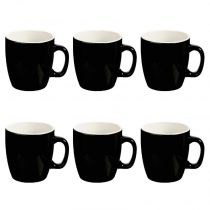 "Lot de 6 Mugs ""Colors"" 18cl Noir"