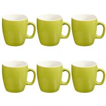 "Lot de 6 Mugs ""Colors"" 18cl Vert"