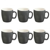 "Lot de 6 Mugs ""Colors"" 18cl Gris"