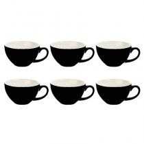 "Lot de 6 Tasses ""Colors"" 40cl Noir"