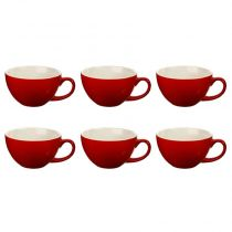 "Lot de 6 Tasses ""Colors"" 40cl Rouge"
