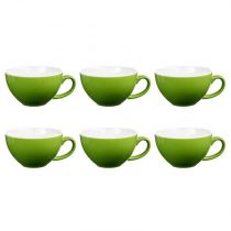 "Lot de 6 Tasses ""Colors"" 40cl Vert"