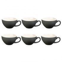 "Lot de 6 Tasses ""Colors"" 40cl Gris"