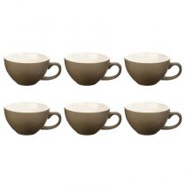 "Lot de 6 Tasses ""Colors"" 40cl Taupe"