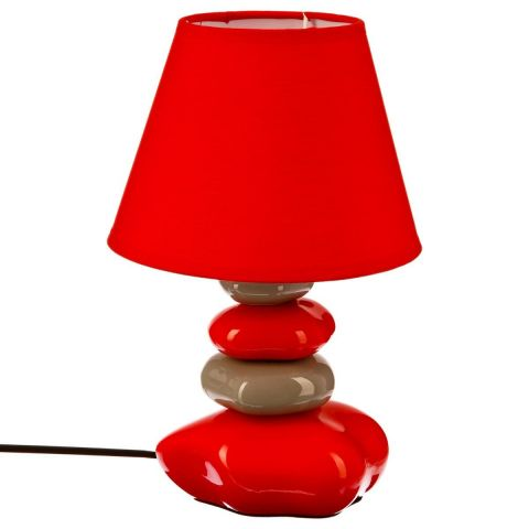 Lampe Galets Rouge 31cm