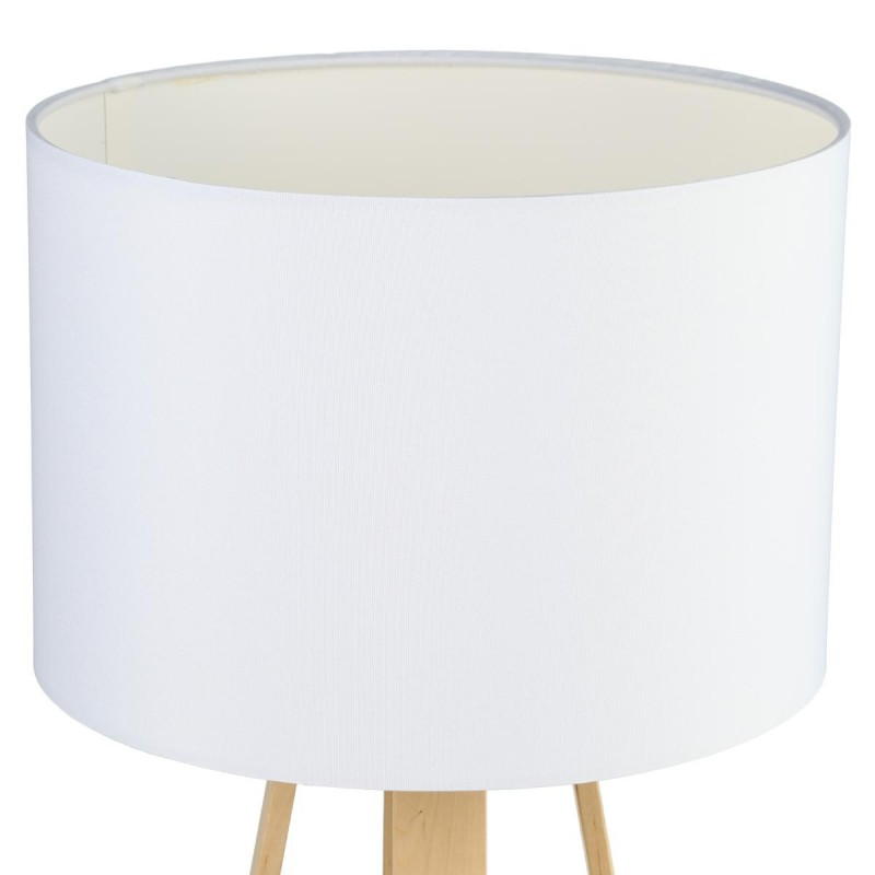 lampe poser bois scandinave 47cm blanc. Black Bedroom Furniture Sets. Home Design Ideas