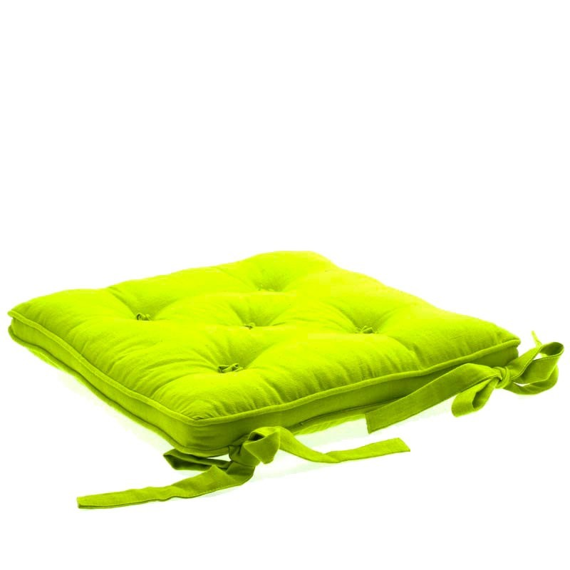 Coussin chaise 5 boutons anis - Casa coussin de chaise ...