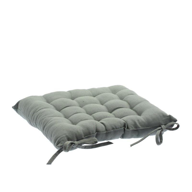 coussin de chaise 38x38 gris. Black Bedroom Furniture Sets. Home Design Ideas
