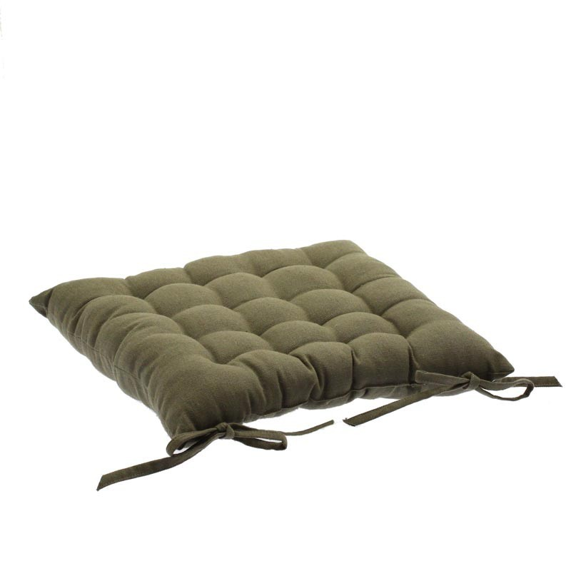 Coussin de chaise 38x38 taupe for Housse de chaise taupe